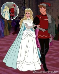 "art disney pixar These Reimagined Disney Princesses Based On Their First Concept Art Will Make You Say, ""Oh, Woooow"" Sleeping Beauty Wedding, Disney Sleeping Beauty, Wedding Beauty, Walt Disney, Disney Couples, Disney Memes, Disney Shirts, Disney And Dreamworks, Disney Pixar"