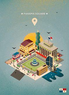 Panamá Square. by Mariana Font, via Behance