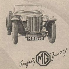 History of the MG TD - The MG T-types - Web page regarding to the history of the MG TD Classic Cars British, British Sports Cars, Vintage Cars, Antique Cars, Mg Cars, Car Advertising, Classic Cars Online, Cars And Motorcycles, Cool Cars