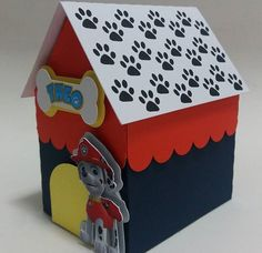 Paw Patrol dog house party decoration