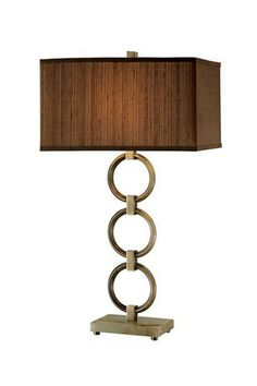 Brushed Brass and Marble Concentric Circle Accent Lamp by Stein World on @HauteLook