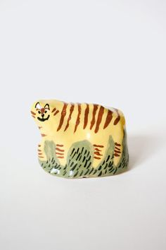 Karin Hagen: Two-faced tiger Earthenware