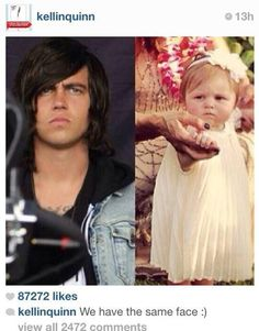 Kellin Quinn and his daughter Copeland Quinn Emo Bands, Music Bands, Rock Bands, Band Quotes, Band Memes, Copeland Quinn, Love Band, Falling In Reverse, Sleeping With Sirens