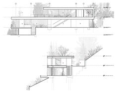 nice use of landscape. architecture sections | Sections xten architecture Sections xten architecture