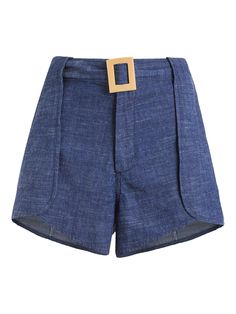 Short Feminino Alfaiataria Fivela - Maria Filó - Jeans - Shop2gether