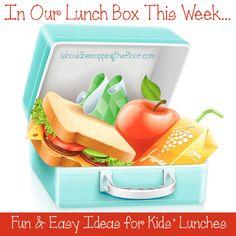 Easy & cute kids' lunch ideas!
