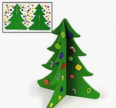 craft kit to make 12 large 3d foam christmas trees christmas crafts by theme - Christmas Tree Crafts For Preschoolers
