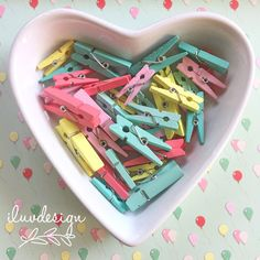 Pastel Little Clothespins 35 Mini Wooden Pegs Belle by iluvdesign