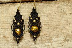 """Tigerauge - Ohrhänger """"Zajulia"""" Tigerauge -auf Bestellung- - ein Designerstück von Lapiszulia bei DaWanda"""