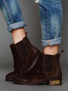 Free People Mota Metal Ankle Boot, they are like cute blundstones with a bit of glamour<3