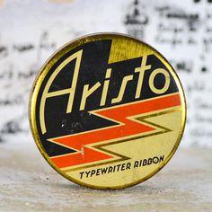 ARISTO antique typewriter ribbon tin...   Home by CoolVintage, $12.50