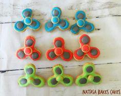 Spinning Fidget spinner cookies!!