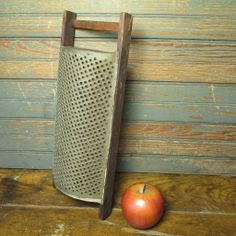 Early Old Primitive Farmhouse Kitchen Hand Made Wood and Tin Grater  #HannahsHouseAntiques #Primitives  http://www.rubylane.com/item/497177-9283/Early-Primitive-Farmhouse-Kitchen-Hand