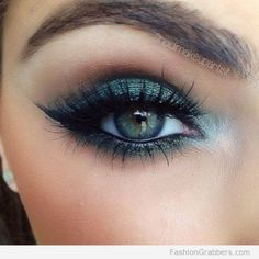 Inspiring Green Eye Makeup To Looks More Pretty24