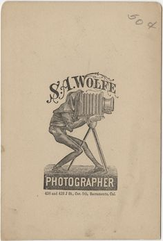 Back Mark on Cabinet Card by S.A. Wolf | Flickr - Photo Sharing!