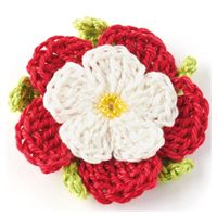 Free tudor rose crochet pattern from Woman's Weekly