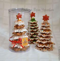 Купить Пряничная новогодняя ёлка с сосульками - новогодняя ель, новогодняя елка, пряничная ель