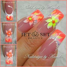 Naildesign by Kamila Achatz - Step by Steps Beautiful Nail Art, Gorgeous Nails, Pretty Nails, Jet Set, Crazy Nails, Fancy Nails, Colorful Nail Designs, Toe Nail Designs, Vacation Nails