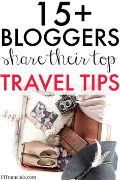 15+bloggers share their top travel tips to save money for traveling or during their travels. This is such an awesome list!