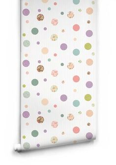 Polkadot Dreams Wallpaper from the Love Mae Collection by Milton & King  #Kids #Toddler #Playhouse #Designers #gardentoys #Boy #Girl #Games  #Toys  #Lighting #Accessories #AtHome #Bath #Bedding #Strollers #Brands #Decor #Play#Beds