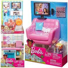 Doll Clothes Barbie, Barbie Doll House, Barbie Dream House, Barbie Dolls, Lol Dolls, Little Girl Toys, Baby Girl Toys, Toys For Girls, Baby Doll Furniture
