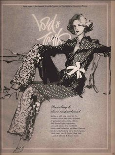 Glamour Ladies, Advertising, Ads, Lady And Gentlemen, Lord & Taylor, Poster, Vintage, Fashion, Moda
