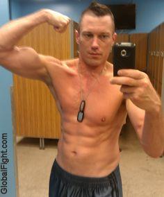 a gym lockerroom post workout pics
