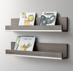 RH baby&child's Metal-Trimmed Wood Book Display Shelf:Turning…