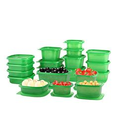 Look what I found on #zulily! Green 50-Piece Food Saver Container Set by Fine Life Products #zulilyfinds