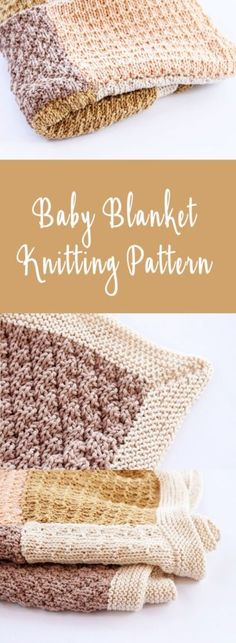 Knitted baby blanket. Make a lightweight cotton baby blanket for the warmer months with this easy and free knitting pattern.