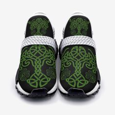 These beautifully designed sneakers are inspired by Irish and Celtic heritage with a modern twist whilst also incorporating the Celtic Tree of Life with our own style. Designed by our design team, the flowing lines and Celtic Tree of Life and Celtic Knot are what we are all about here at Urban Celt.   Free Shipping ✔️  Satisfaction Guaranteed ✔️  Not Sold in shops ✔️  Coupon for 15% off next purchase ✔️ Irish Wedding Traditions, Celtic Tree Of Life, Handfasting, Celtic Designs, Celtic Knot, Crocs, Footwear, Urban, Unisex