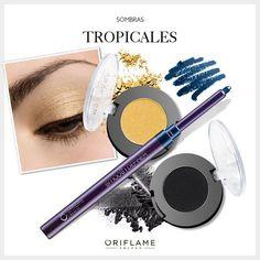 Seguimos con espíritu mundialero y nos inspiramos en los colores tropicales del tucán, uno de los animales típicos de Brasil, para crear un colorido look. #Tips #Look #makeup #OriflameMX