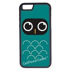 CellPowerCasesTM Teal Funky Owl iPhone 6 (4.7) Protective V1 Black... ($13) ❤ liked on Polyvore featuring accessories, tech accessories and black