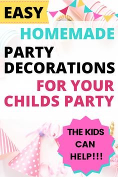 DIY homemade birthday decoration ideas for kids parties can be made ahead and look amazing. We've got lots of ideas for party decorations to make at home, and the kids can help! Homemade Birthday Decorations, Paper Party Decorations, Diy Party, Party Ideas, Paper Balloon, Paper Flower Garlands, Glitter Balloons, Managing Money, Good Tutorials