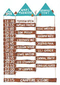 Timetable Festival the Brave 2016 #festival #thebrave #brave #timetable