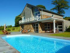 Vakantiehuis Coeur de bois in Stoumont met zwembad