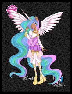 Princess Celestia a-la-Monster High by NemoTurunen.deviantart.com on @deviantART