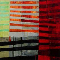 """Jane Davies - All Stripes #1 - 36"""" x 36"""""""