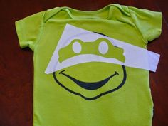 Imperfect & Fabulous: DIY Ninja Turtle Onesie & Free Cut File