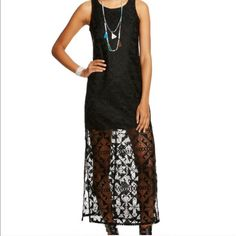 Long Black Lace Dress Maxidress