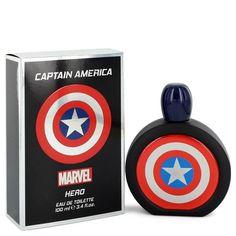 Captain America Hero by Marvel Eau De Toilette Spray 3.4 oz for Men