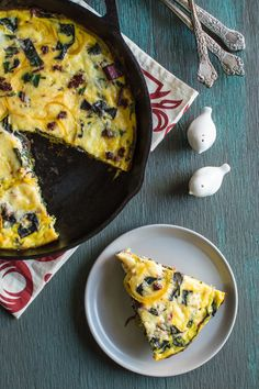 A delicious & #healthy Swiss Chard & Golden Beet Frittata for a light #glutenfree breakfast or lunch.