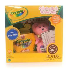 Boyds Bears Plush Crayola Sweetie B Carnation Pin Teddy Bear