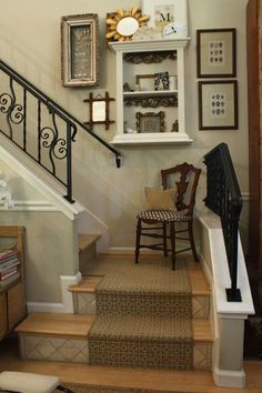 Hmmm Shelf In Stair Well Eclectic Staircase By Shannon Malone Landing Decorstaircase