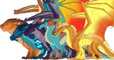Dragonets From Wings of Fire Wings of Fire, The Dragonets of Destiny ...