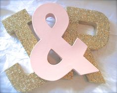 Glittered LETTERS Wedding Decor and Home Decor von SwoonPartyShop