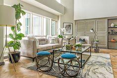 Take a Tour of Iza Calzado's Modern Eclectic Condo Unit Asian House, Modern Asian, House Goals, Living Room Interior, Outdoor Furniture Sets, Condo, New Homes, The Unit, House Design