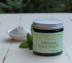 Stimulating Foot Scrub - Pumice makes this a great scrub for softening feet. As strong and awesome a Soften Feet, Pumice, Scrubs, Herbalism, Best Gifts, Clay, Skin Care, Stark, How To Make