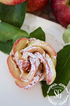 PUFF PASTRY APPLE ROSETTES - StoneGable