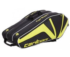 CARLTON 3 Compartment Thermo Badminton Racquet Bag by Carlton. $91.15. This bag has been made with a premium fabric construction to ensure its performance and durability. It has the capacity to hold two badminton rackets, as well as including multiple internal pockets for kit, equipment and accessories. The bag also features a carry handle and adjustable, double shoulder straps.
